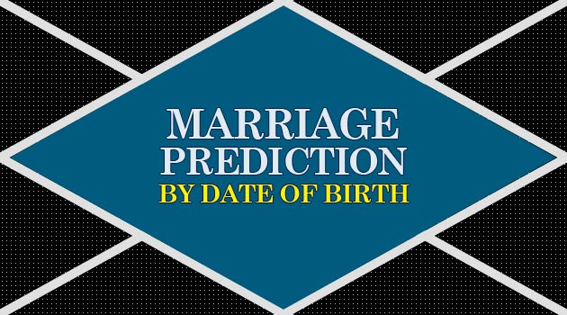 Marriage Prediction by Date of Birth