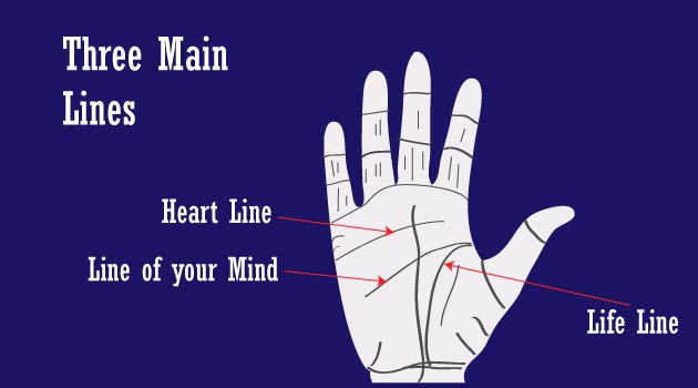 Three main lines of your Hand