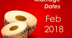 Marriage Dates in February 2018