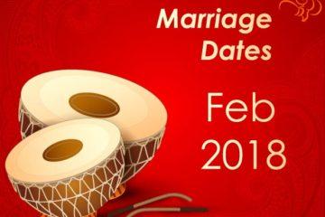 Marriage Dates Feb 2018