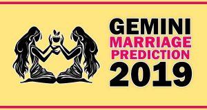 Gemini Marriage Horoscope 2019